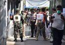 Dandim Pimpin Penyemprotan Disinfektan di Jalan Petamburan III Tanah Abang