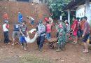 Solid, TNI Polri dan BNPB Tulungagung dan Masyarakat Bersihkan Timbunan Tanah Longsor