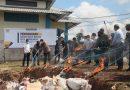 Satgas Yonif 642 Bersama Bea Cukai dan Instansi Terkait Musnahkan BMN Hasil Penindakan