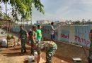 Anggota Koramil 05/TA Kerja Bakti Jumat Bersih di BKB Petamburan