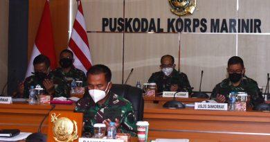 Dankormar Ikuti Vicon Rakor Renaku II TNI AL 2020