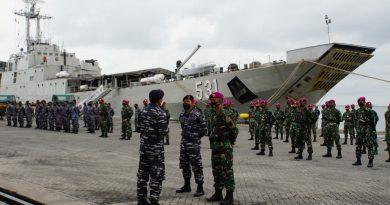 Danpasmar 1 Rotasi Lepas  Kompi Komposit Marinir TNI AL Natuna