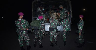 Marinir Kerahkan Satgas Kemanusiaan Bantu Korban Banjir Banjarmasin
