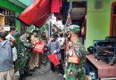 Babinsa Koramil 02 SB Pantau Distribusi 695 Paket Sembako pada Warga Mangga Dua Selatan