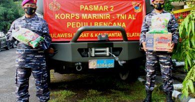 Resimen Kavaleri 2 Marinir Pasmar 2 Kirim Bantuan Sembako Bencana Alam