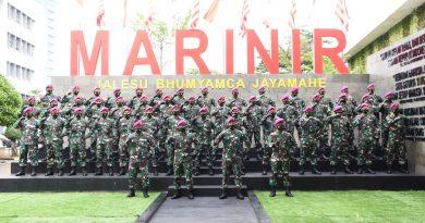 Dankormar Terima 86 Perwira Remaja Korps Baret Ungu