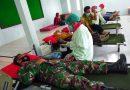 Bersama Anggota Danramil 10/Sine Ikuti Donor Darah