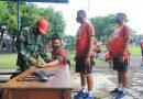 Jelang Seleksi Pendidikan Karier, Prajurit Yonranratfib 2 Mar Pasmar 2 Laksanakan Garjas