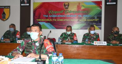Danrem 081/DSJ Ikuti Rapim TNI AD 2021 Secara Virtual