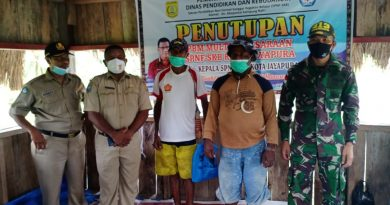 Satgas TNI Yonif 413 Kostrad Bersama Dinas Dikbud Kota Jayapura Resmi Tutup PBM Multikeaksaraan