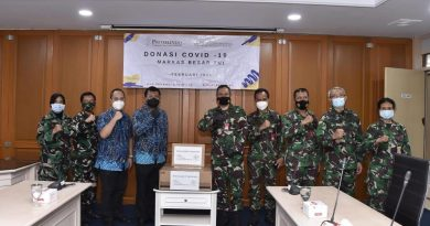 Puskes TNI Terima Donasi Material Kesehatan Covid-19