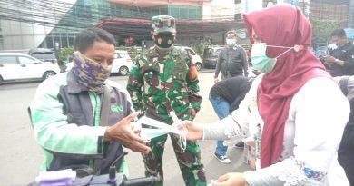 Tiga Pilar Bendungan Hilir Kolaborasi Dengan Relawan POC Bagikan Masker