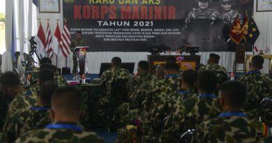 Marinir Gelar Rapat Komando dan Apel Komandan Satuan