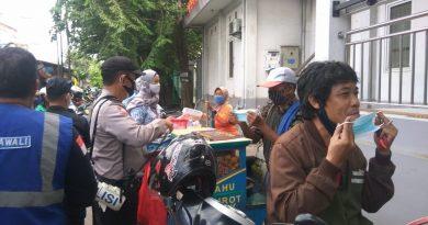 Himbauan 5 M dari Anggota Koramil 02/ Sawah Besar Saat Sosialisasi Protkes