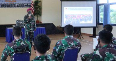 Prajurit Yonmarhanlan VII ikuti pembukaan latihan P5T Glagaspur Tw I Tahun 2021 Lanudal Kupang