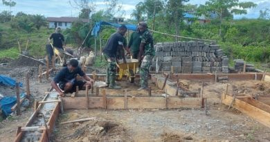 Satgas TMMD Boven Digoel Awali Pembangunan Rumah Dengan Pengecoran Pondasi