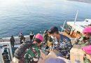 Dari Atas KRI Ahmad Yani – 351, Prajurit Yonmarhanlan VII Distribusikan Bantuan ke Masyarakat Pulau Sabu Raijua