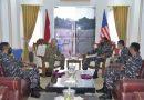 Dankormar Terima Kunjungan Atase Militer USMC