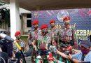"""HUT ke 69, """"Kopassus Peduli Berbagi' Bagikan Ribuan Paket Sembako pada Desa Binaan"""