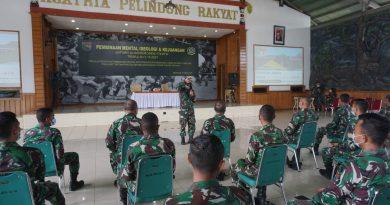 Prajurit dan PNS Korem 174 Merauke Ikuti Bintal Ideologi dan Kejuangan