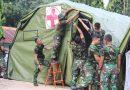 Marinir Dirikan Posko Kesehatan di Lewoleba Lembata NTT