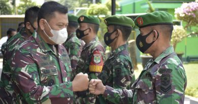 Dandim 0501 JP BS Pimpin Upacara Korps Raport Pindah Satuan Personil Pra-Babinsa