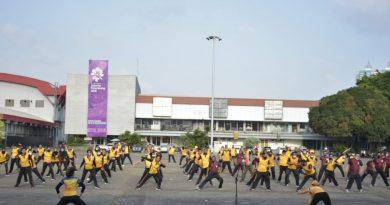 Tingkatkan Sinergitas Kodim 0501/ JP BS dan Polres Metro Jakarta Pusat Gelar Olahraga Bersama