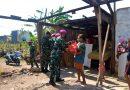 Yonmarhanlan VII Distribusikan Bantuan Sembako Pada Masyarakat Terdampak Bencana