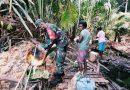 Babinsa Supiori Utara Kerjabakti Bersama Warga Desa Wayori Supiori Barat
