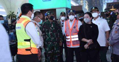 Pantau Larangan Mudik, Panglima TNI dan Kapolri Bersama Ketua DPR Serta Beberapa Menteri Tinjau Penyekatan Arus Mudik 2021