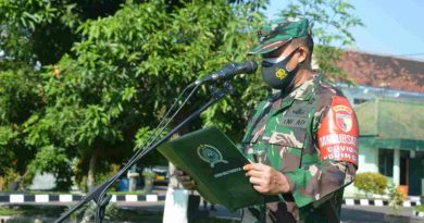 Sukseskan Kebijakan Pemerintah, Dandim 0802/Ponorogo Ajak Anggota Berantas Covid Dengan Tidak Mudik