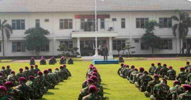 Komandan Resimen Kavaleri 2 Marinir Pimpin Apel Khusus Jelang Hari Raya Idul fitri