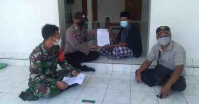 Koramil 02/Paron Sosialisasikan SE Bupati Tentang Pelaksanaan Sholat Idul Fitri