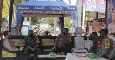 Dandim 0806/Trenggalek Bersama Kapolres Tinjau Posko Mudik Lebaran Kecamatan Watulimo