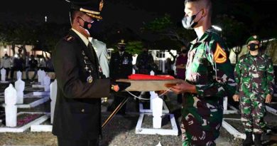 Kepada Anak Almarhum Kolonel Chb Sony Supartono, Danrem 081/DSJ : Lanjutkan Pengabdian Terbaik Ayahanda