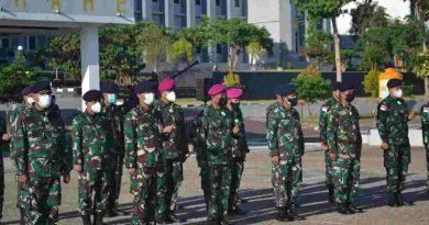 Prajurit Yonmarhanlan VII Ikuti Apel Khusus Danlantamal VII Kupang dan Rapid Rest Massal