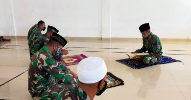 Pondok Ramadhan, Prajurit Yonmarhanlan VII gelar Tadarus dan Kultum