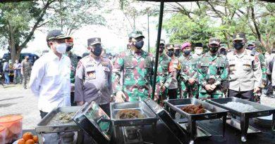Panglima TNI Pastikan Asupan Gizi Bagi Prajurit Saat Tinjau Dapur Lapangan