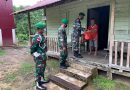 Batalyon Infanteri 642/Kapuas Bagikan Sembako Kepada Warga Kurang Mampu