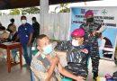TNI AL Kembali Laksanakan Serbuan Vaksinasi  Masyarakat Maritim  Sorong
