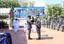 Danyonmarhanlan VII menjadi Komandan Upacara peresmian Pangkalan TNI AL Labuan Bajo