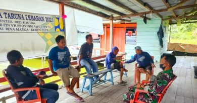 Babinsa 1705-02/Napan Laksanakan Anjangsana Diwilayah Binaan Kampung Maidey Distrik Makimi