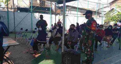 Vaksinasi Di Wilayah Koramil Kemayoran, Danramil Ingatkan Prokes dan PHBS