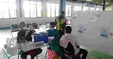 Kodim Madiun Berikan Vaksinasi Kepada Ratusan Karyawan Pabrik