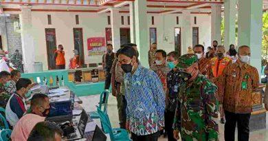 Tinjau Serbuan Vaksinasi, Dandim Madiun: Melalui Video Conference Panglima TNI Berikan Apresiasi