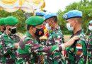 Danrem 091/ASN Lepas 153 Prajurit Satgas Kompi Zeni TNI Konga XXXVII-H/Minusca Car Tahun 2021 Yonzipur 17/AD