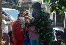 Peduli Kesehatan, Babinsa Jajaran Kodim 0803/Madiun Bagikan Masker Kepada Warga Binaan