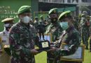 Dandim 0501/ Jakarta Pusat Lepas Anggota Pindah Satuan dan Sampaikan Bingkisan Jelang Hari Raya