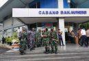 Danlanal Lampung Mendampingi Pejabat Negara Tinjau Lokasi Penyekatan Mudik 2021 di Pelabuhan Bakauheni