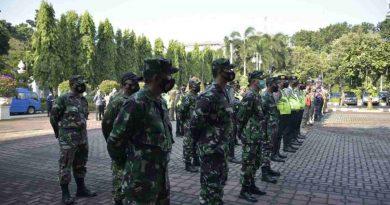 Tiga Pilar Administrasi Jakarta Pusat Gelar Apel Pengamanan Perayaan Idul Fitri 1442 H ditengah Masa Pandemi Covid 19